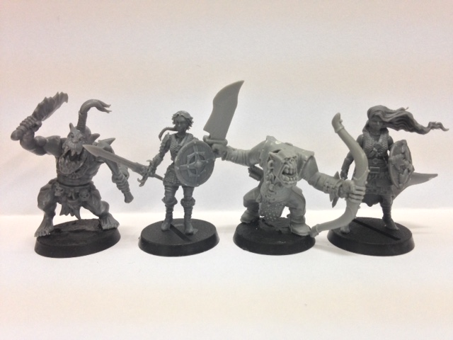 Shieldwolf Miniatures: Plastic Fantasy Shieldmaidens and Rangers Scale Comparison