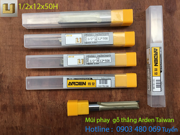 Mũi router thẳng Arden 1/2*12*50H