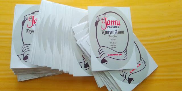 Stiker Label Jamu