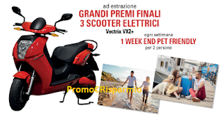 Logo Da Maxizoo vinci weekend e scooter elettrici Vectrix