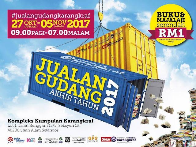 Jualan Gudang Akhir Tahun Karangkraf 2017