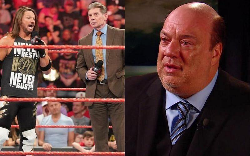 'Vince McMahon was smart to fire him' -- AJ Styles attacks Paul Heyman again