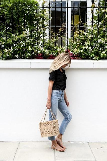 borsa paglia tendenza estate 2020 come indossare la borsa di paglia in città tendenza borse paglia in città come abbinare la borsa in paglia outfit borsa paglia mariafelicia magno fashion blogger colorblock by felym fashion blogger italiane fashion bloggers italy
