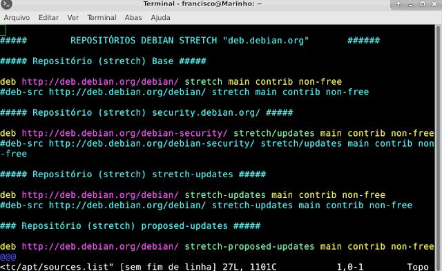 A melhor sources.list para o seu Debian