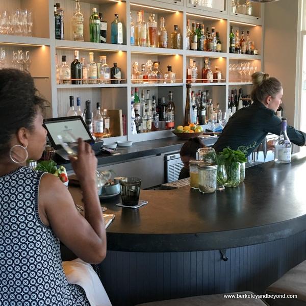 bar at Acacia House restaurant in St. Helena, California