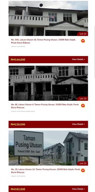 100 Unit Rumah yang akan dilelong Oleh LPPSA
