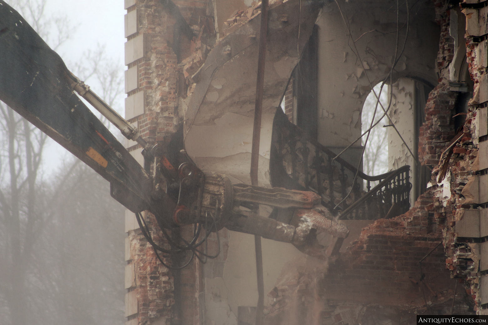 Allentown State Hospital - Demolition - Mast Staircase Just Before it was Destroyed