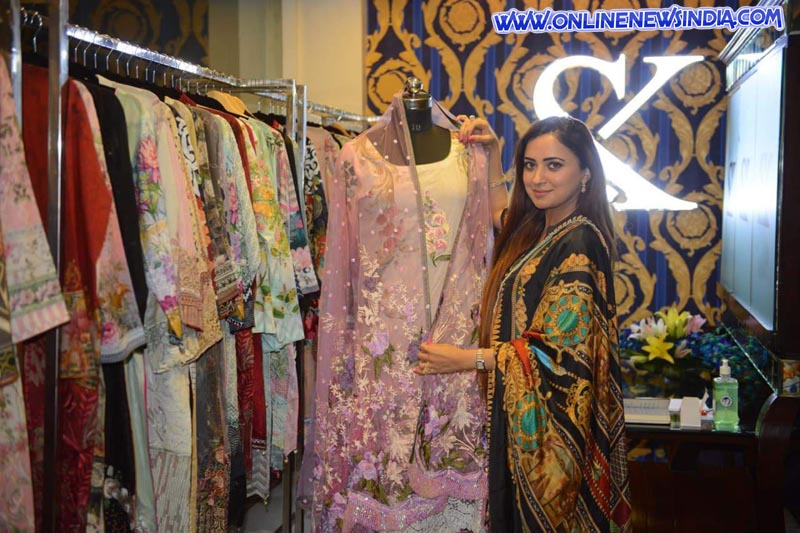 Japinder Kaur shows summer collection during SnK Couture opening in Amritsar