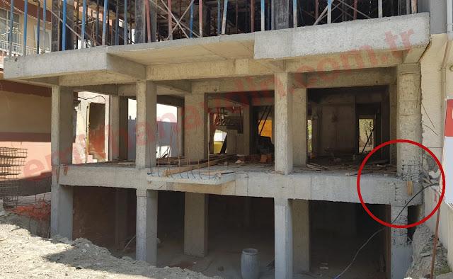 inşaatta kolon hatası