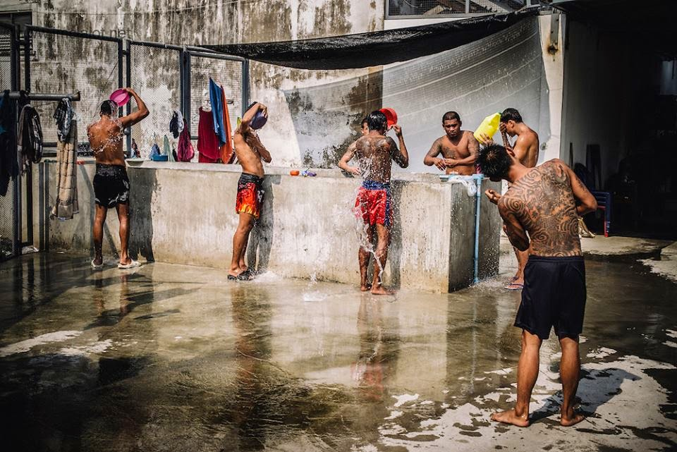 the showers in klong prem prison bangkok