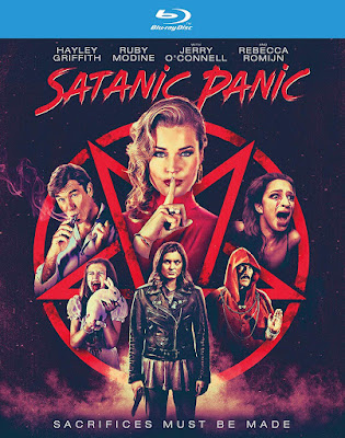 Bluray cover for Chelsea Stardust's SATANIC PANIC!