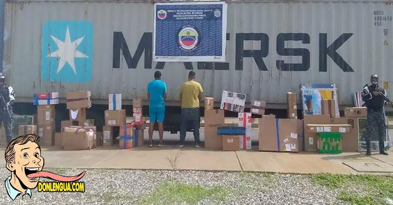 Detenidos por robarse todo lo que tenía un contenedor en La Guaira