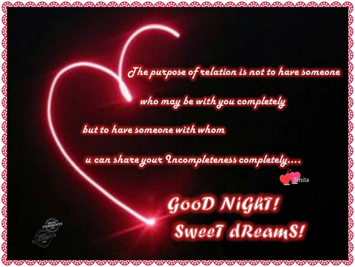 Gud Nite Wallpaper With Quotes Shining Hearts Wishes Good Night Wallpaper With Quote