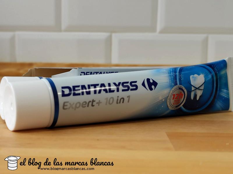 Pasta de dientes DENTALYSS Expert+ 10 en 1 de Carrefour en El Blog de las Marcas Blancas.