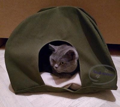 diy szycie - namiot dla kota