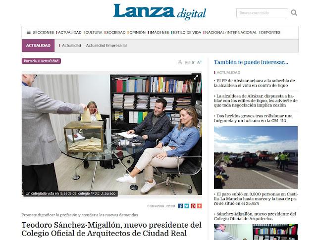 http://www.lanzadigital.com/news/show/actualidad/teodoro-sanchez-migallon-nuevo-presidente-del-colegio-oficial-de-arquitectos-de-ciudad-real/97542