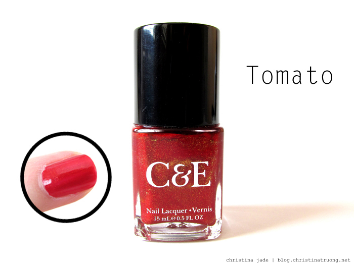 Crabtree & Evelyn Nail Polish Collection Swatches Tomato Review