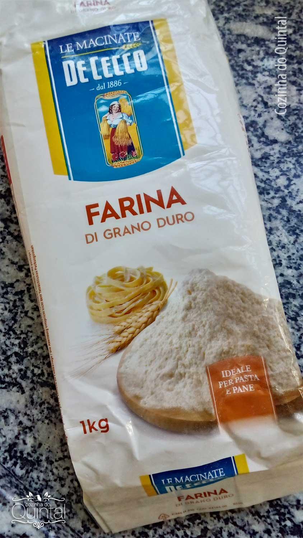 Macarrão Caseiro para vender com farinha italiana na Cozinha do Quintal