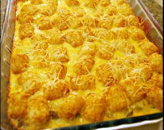 TATER TOT BREAKFAST CASSEROLE - FOOD FUN FRIDAY