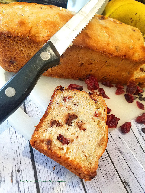 Dried Cherry Banana  Chocolate Chip Bread