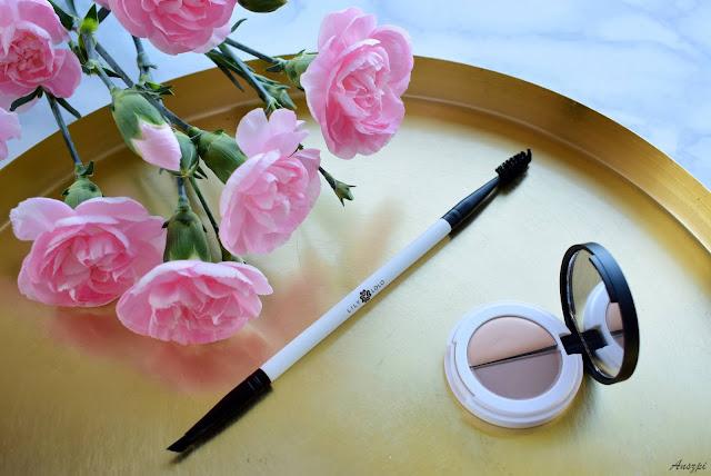 Zestaw do brwi Lily Lolo: Eyebrow Duo Light i podwójny pędzel Angled Brow- Spoolie Brush
