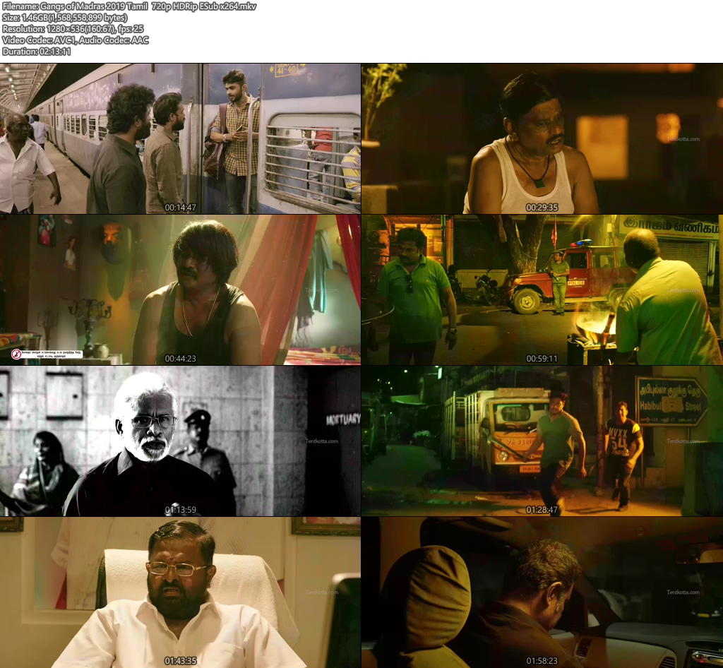 Gangs of Madras 2019 Tamil 720p HDRip ESub x264 | 480p 300MB | 100MB HEVC Screenshot