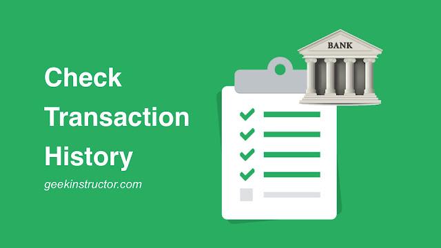 Check bank transaction history on phone