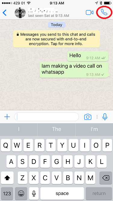 How to Make Video Calls on WhatsApp on iPhone/iPad in iOS 10