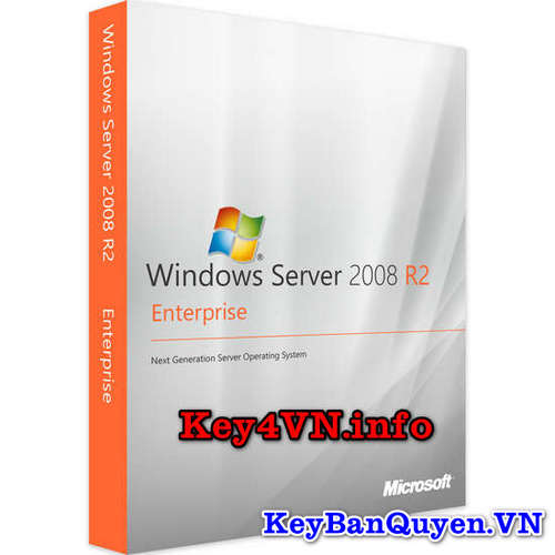 Key bản quyền Windows Server 2008 R2 Enterprise.