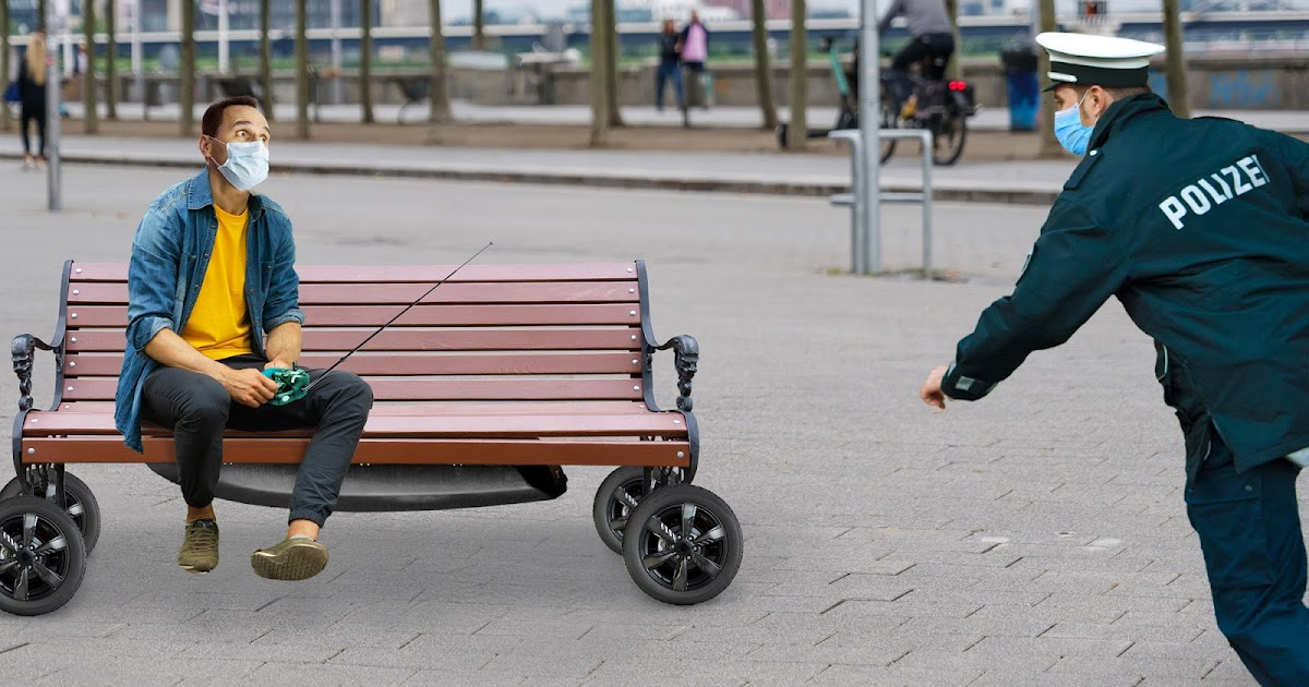 Gegen Verweilverbot: Düsseldorfer Tüftler erfindet fahrbare Parkbank