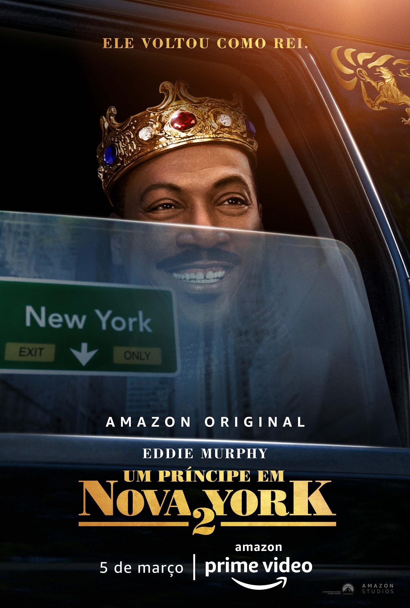 O Amazon Prime Video divulgou o primeiro cartaz do filme Um Príncipe em Nova York 2, da Paramount Pictures.