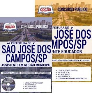 Concurso da Prefeitura de São José dos Campos 2018