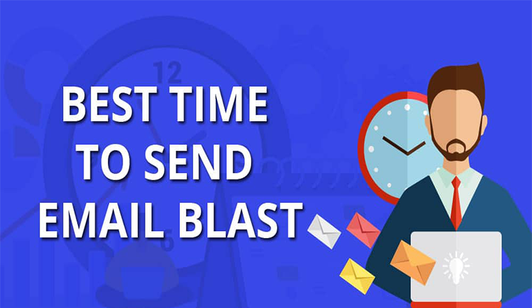 Best Time to Send a Blast of Emails #infographic