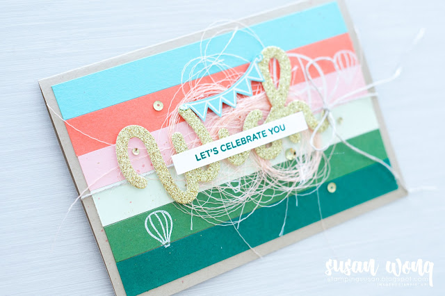 Stampin' Up! Birthday Card - by Susan Wong for Fancy Friday