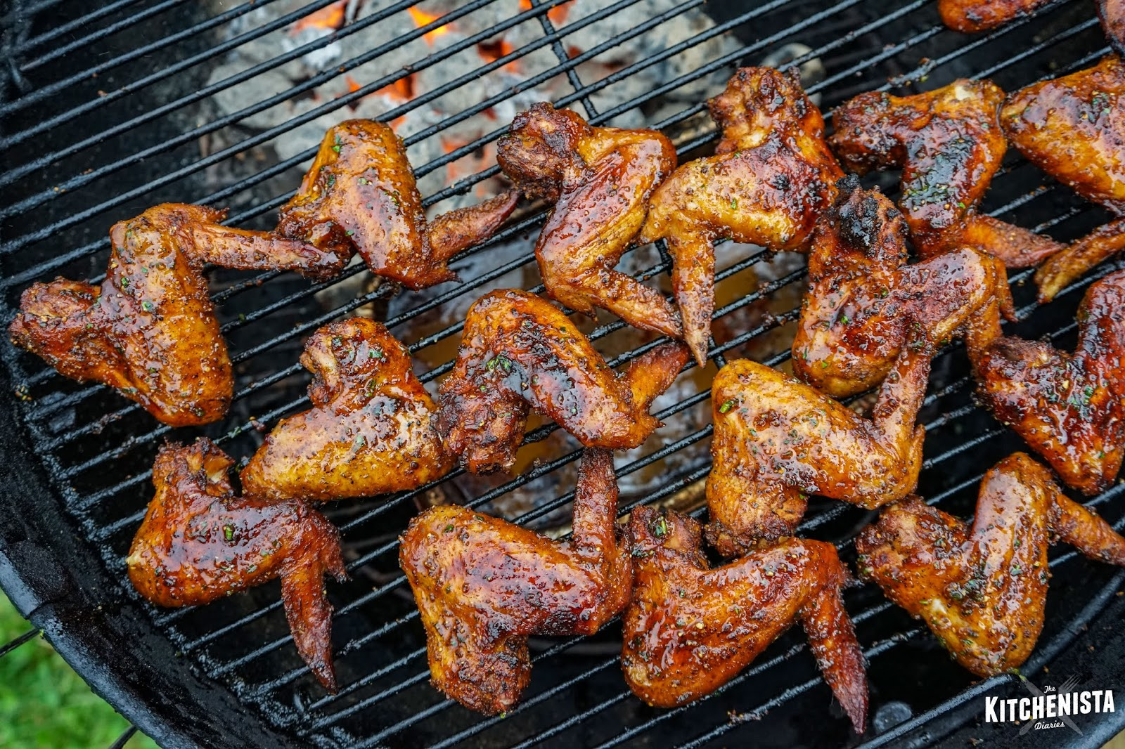 Grilled Lemon Pepper Wings - The Kitchenista Diaries