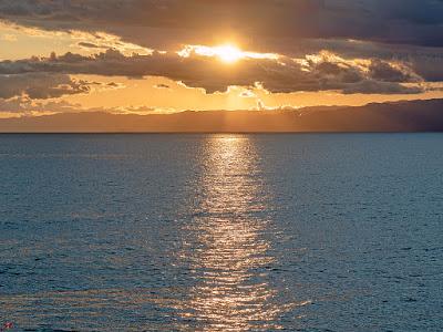 Setting sun; Inamuragasaki Cape (Kamakura)