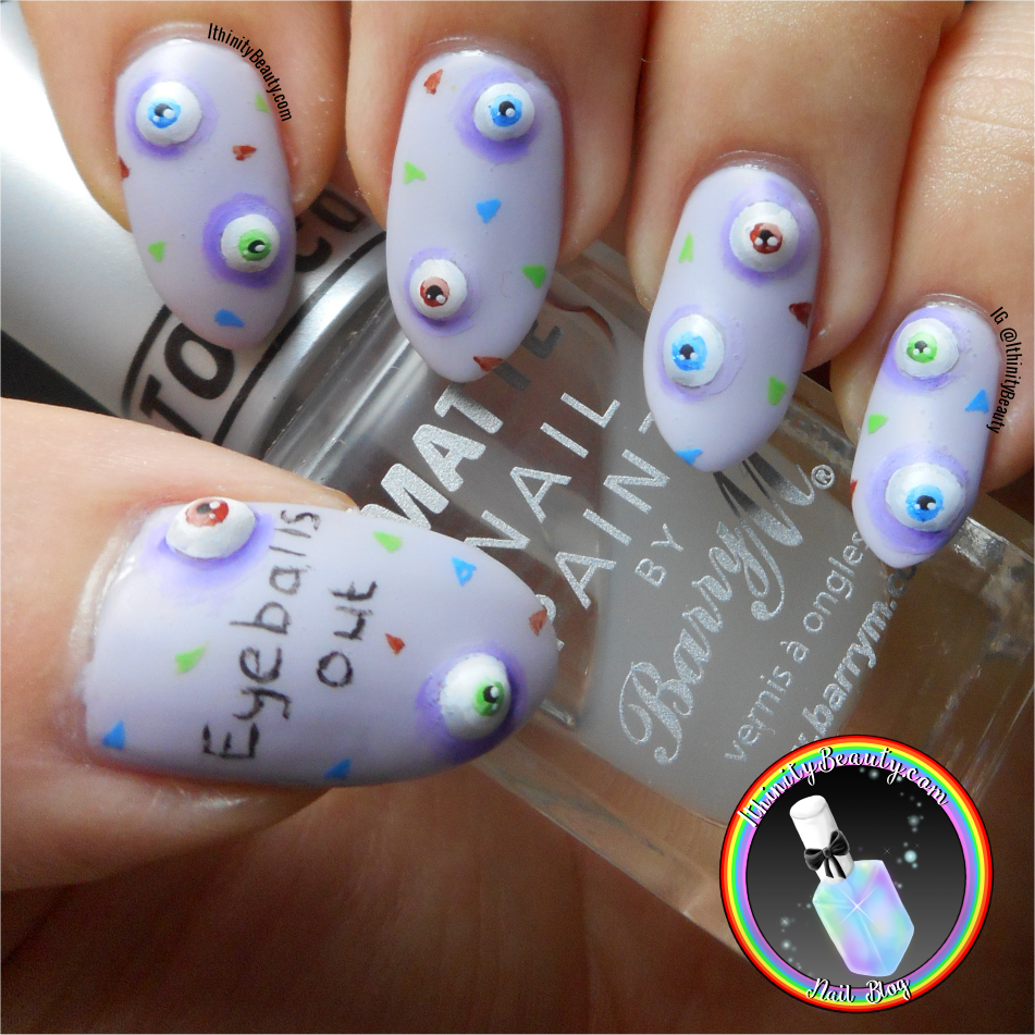 Eye Balls Out! Freehand 3D Gel Eye Nails | IthinityBeauty.com Nail ...