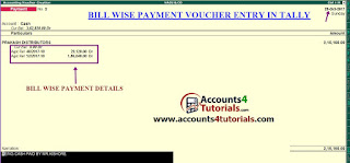 payment voucher entry in tally