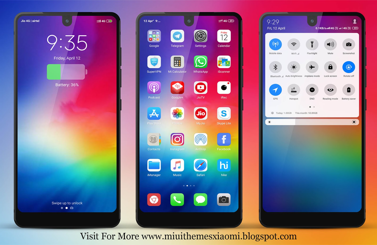 iPhone iOS 12 V10 MIUI Theme Download For Xiaomi Mobile