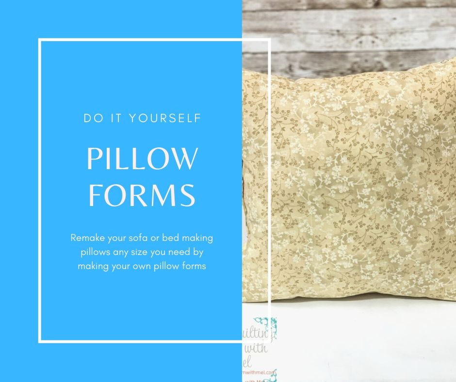 Update any room in your house with new pillows any size you want by making your own pillow forms