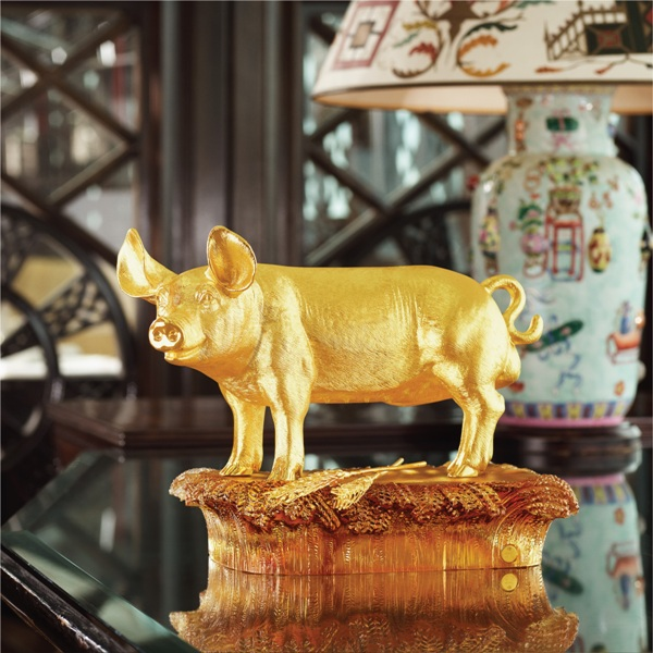 chinese new year risis zodiac collection harvest pig