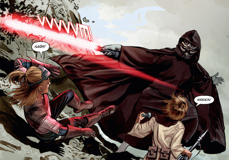 The Star Wars: Story: J.W. Rinzler Art: Mike Mayhew Additional Art: Scott Kolins, Sean Cooke, Killian Plunkett, Stephane Roux, Ryan Kinnaird Colors: Rain Beredo, Dan Jackson Letters: Michael Heisler Covers: Nick Runge, Jan Duursema, Douglas Wheatley, Ralph McQuarrie Design: Jimmy Presler  Star Wars created by George Lucas.