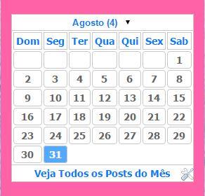 calendário estilo 2