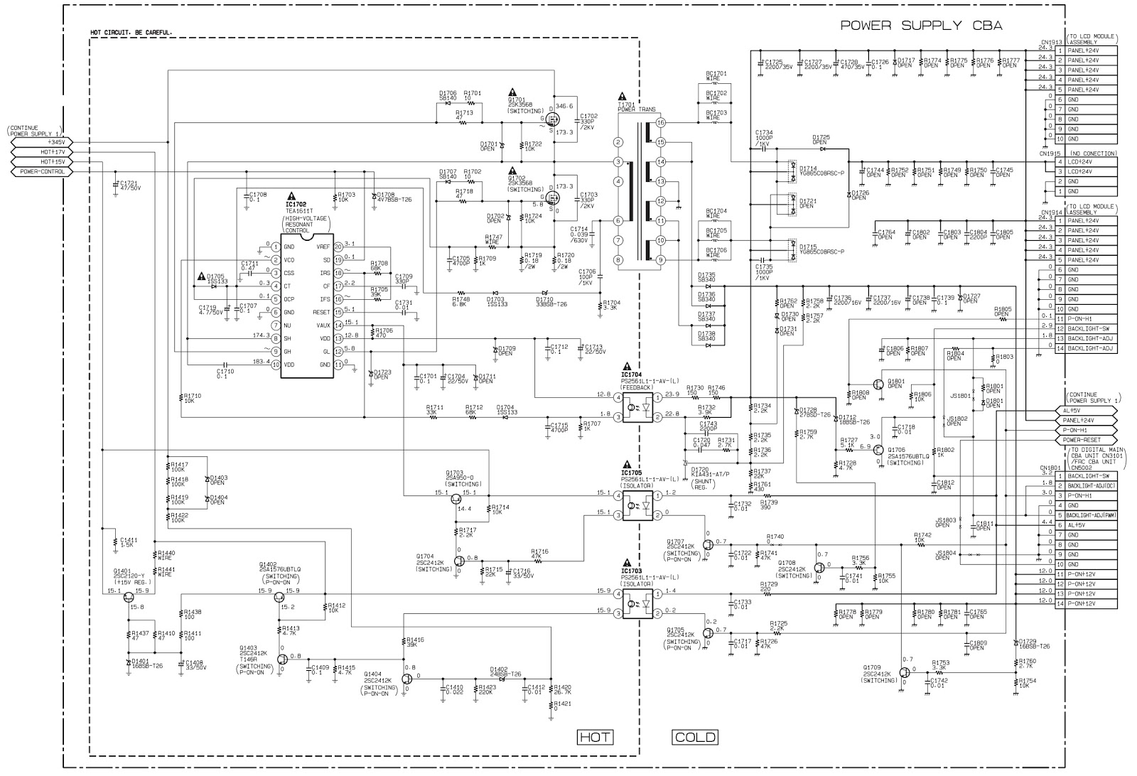 philips 55pfl5706 f7 \u2013 circuit diagram (full) schematic diagramsthe voltage for parts in hot circuit is measured using hot gnd as a common terminal digital main board schematic