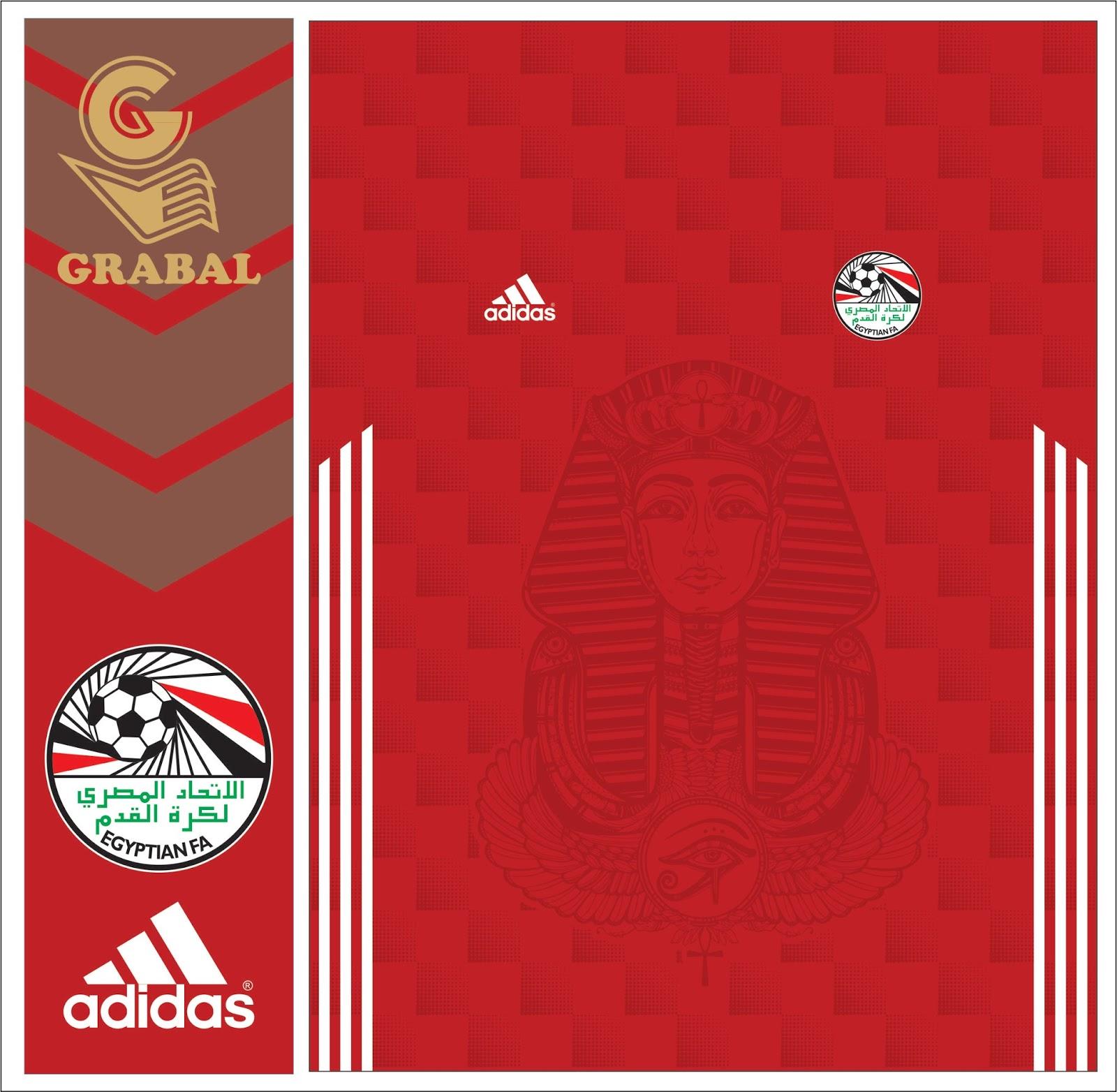 Grabal desing vector  POSIBLE CAMISETA DE EGIPTO CUP 2018 cc99cc3d79294