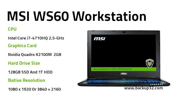 مراجعة لاب توب MSI WS60 Workstation
