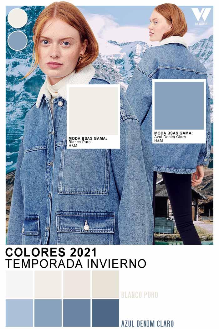 colores de moda otoño invierno 2021 Azul denim claro