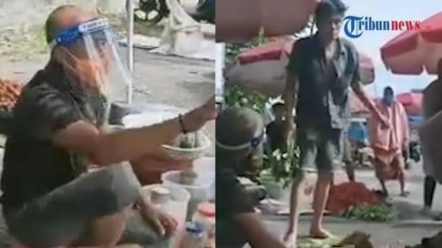 Pedagang Sayur Diamuk Pesaing karena Dagangnya Laris, Ternyata Gubernur Lagi Nyamar
