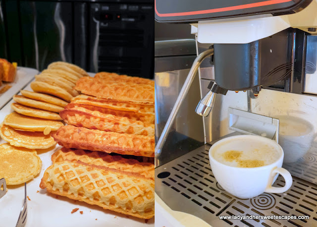 waffles at Novotel Al Barsha breakfast buffet