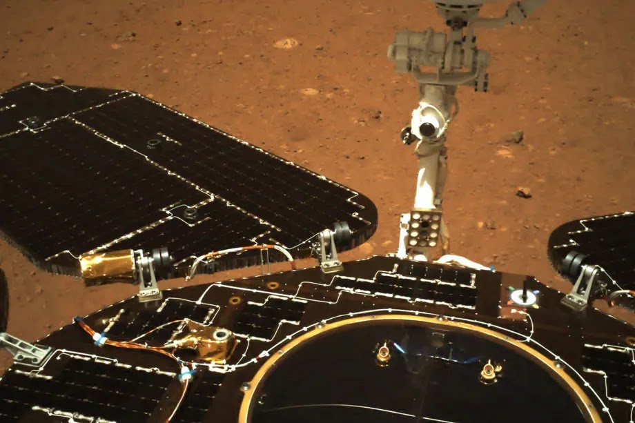 China Drives Its Rover On Mars' Surface
